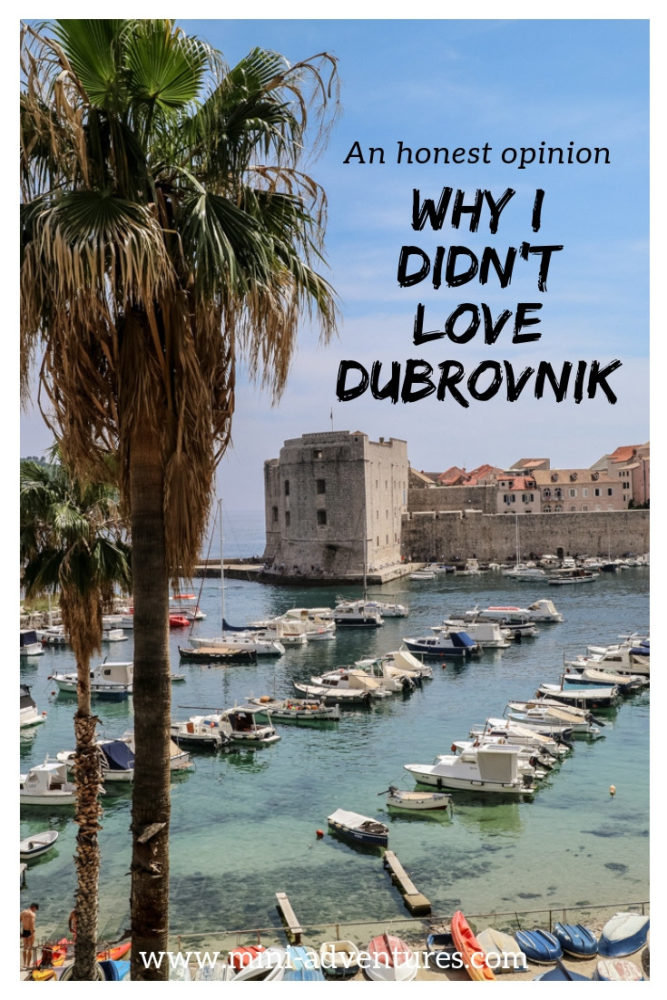 Is it worth visiting Dubrovnik, Croatia? We took a day trip to the city and I didn't LOVE it - but there are some reasons why it's still worth visiting, and ideas on what to do and see there. #dubrovnik #croatia #europe