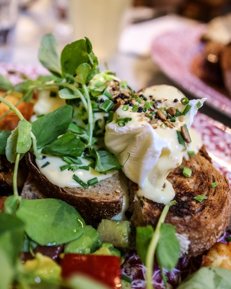 Review | Poached Eggs with Hollandaise Sauce | Bill's Garden Vegetarian Brunch at Bill's Covent Garden restaurant