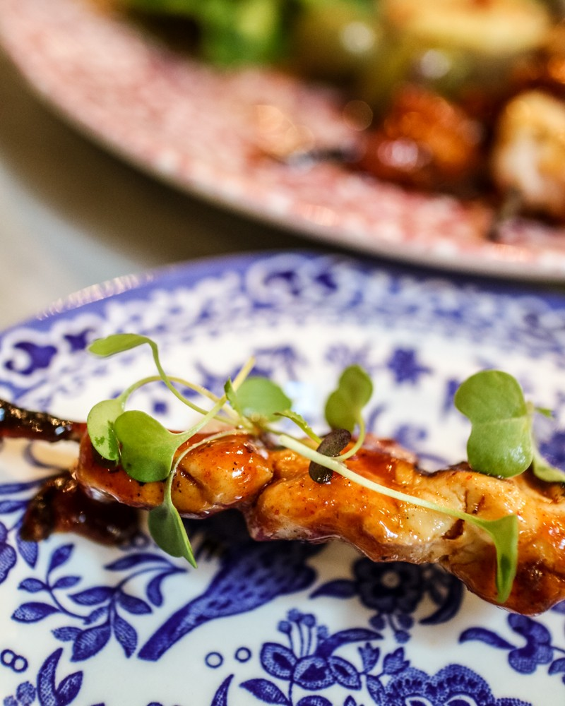 Devilled Chicken Skewer | Bill's Garden Vegetarian Brunch at Bill's Covent Garden restaurant