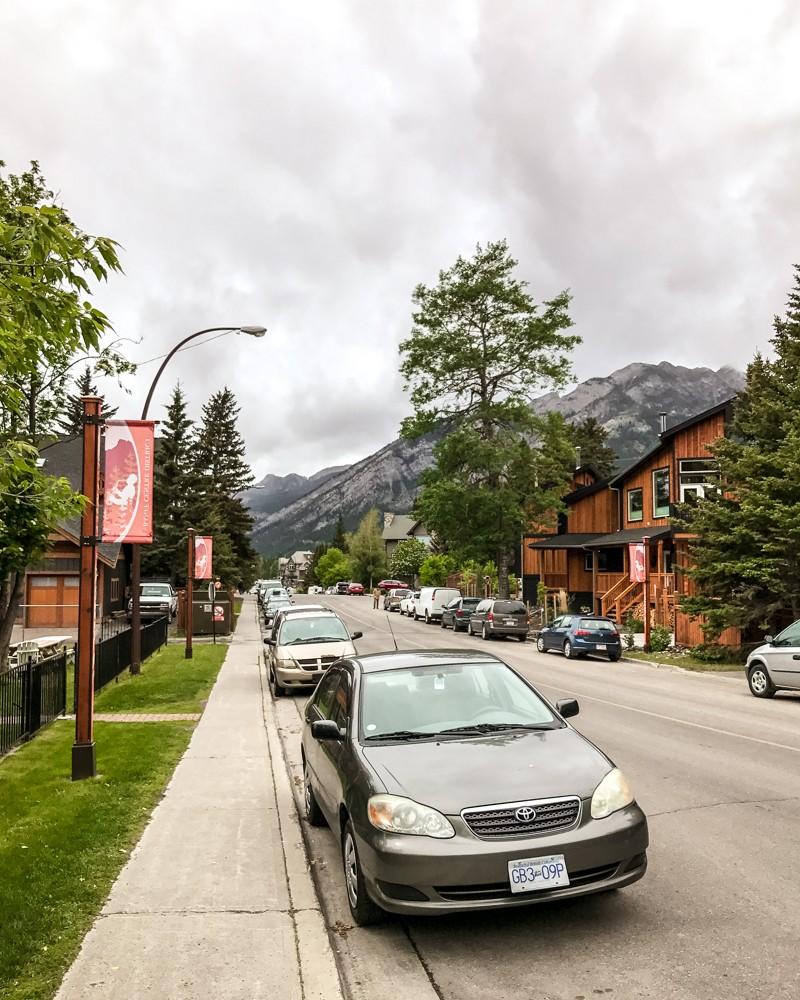 Street in Banff, Canada