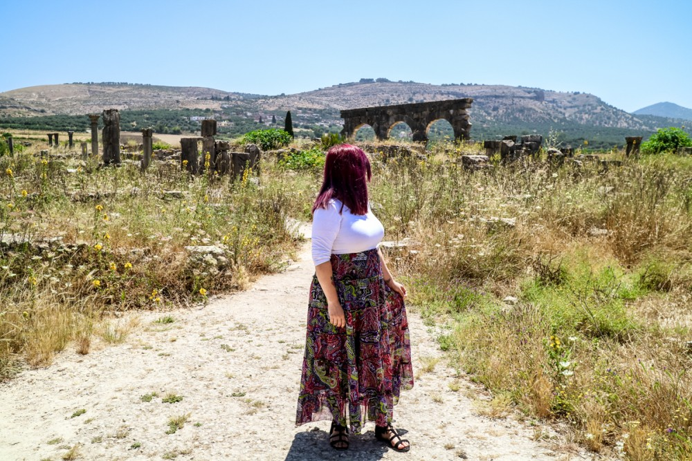 Looking out at the ruins of Volubilis, Morocco | Guide to Volubilis archaeological site