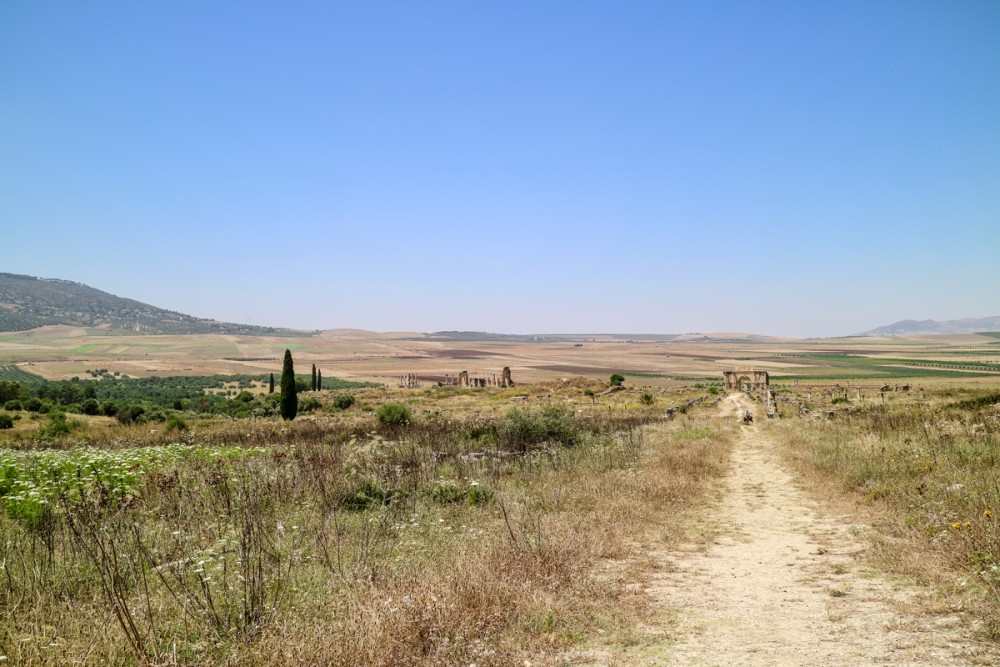 Countryside views at Volubilis, Morocco | Guide to Volubilis archaeological site