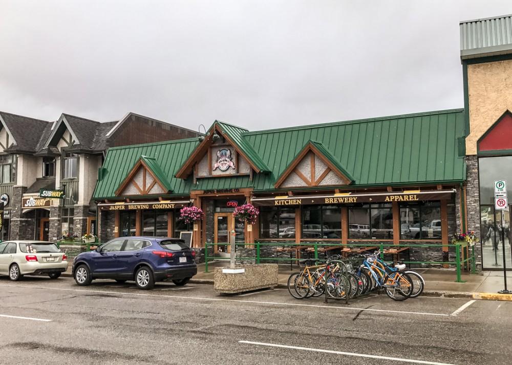 Street in Jasper, Canada
