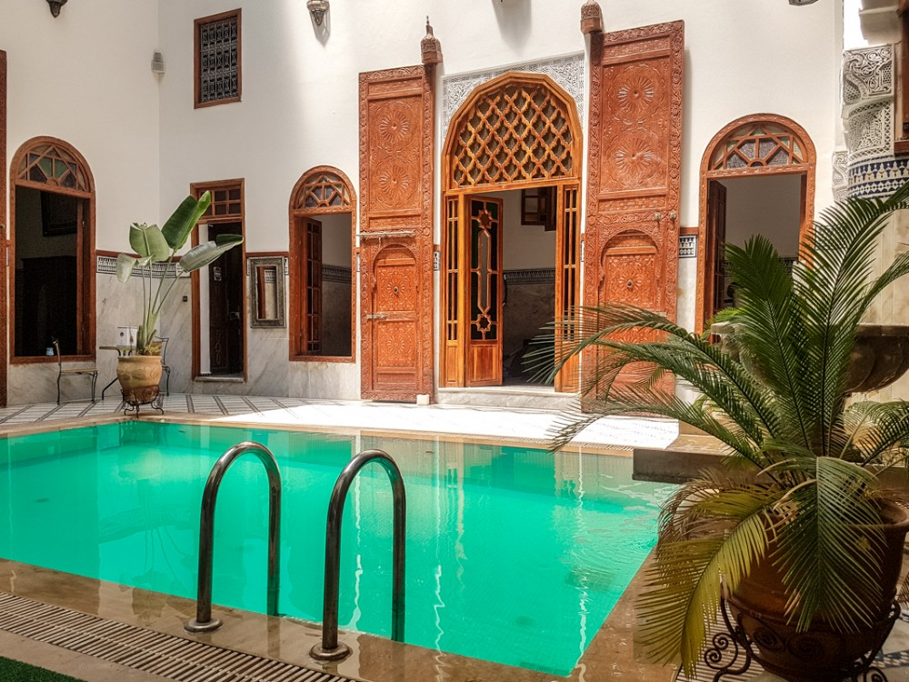 Pool area in Palais D'Hotes Suites & Spa, Fez | Hotels in Fez, Morocco
