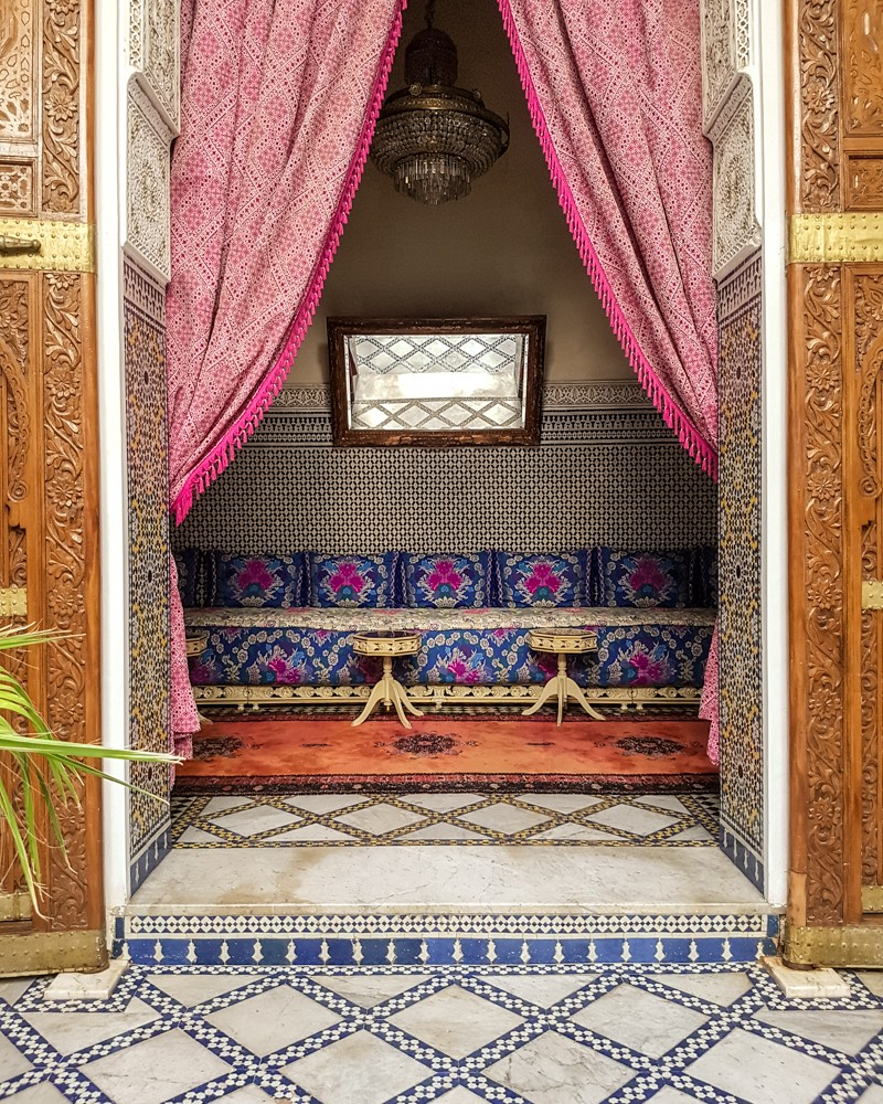 Foyer of Palais D'Hotes Suites & Spa, Fez | Hotels in Fez, Morocco