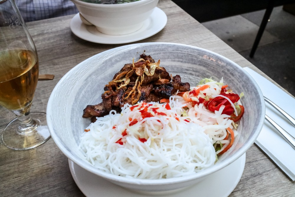 Asian BBQ pork and vermicelli noodles at Viet Eat Vietnamese Restaurant, London | Review