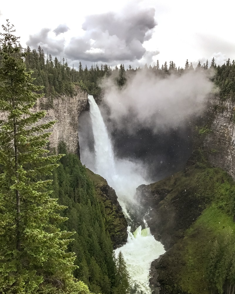 Helmcken Falls, Wells Gray Provincial Park, British Columbia | Where to go on a West Canada Road Trip