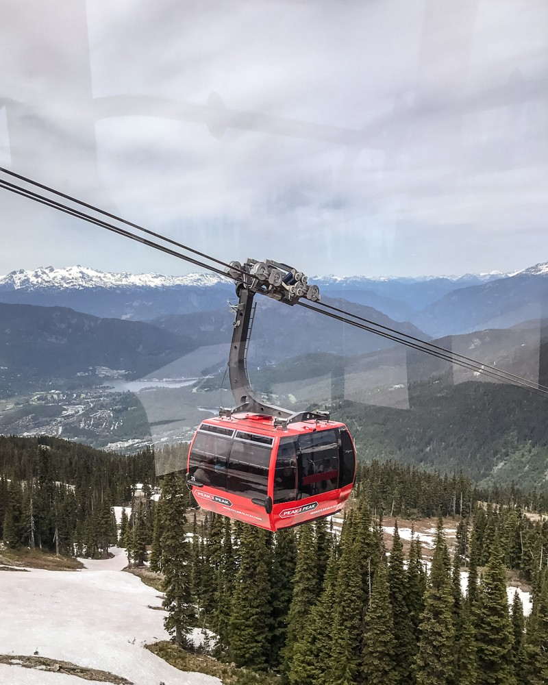 Peak2Peak Gondola in Whistler, Canada | Things to do on a West Canada road trip