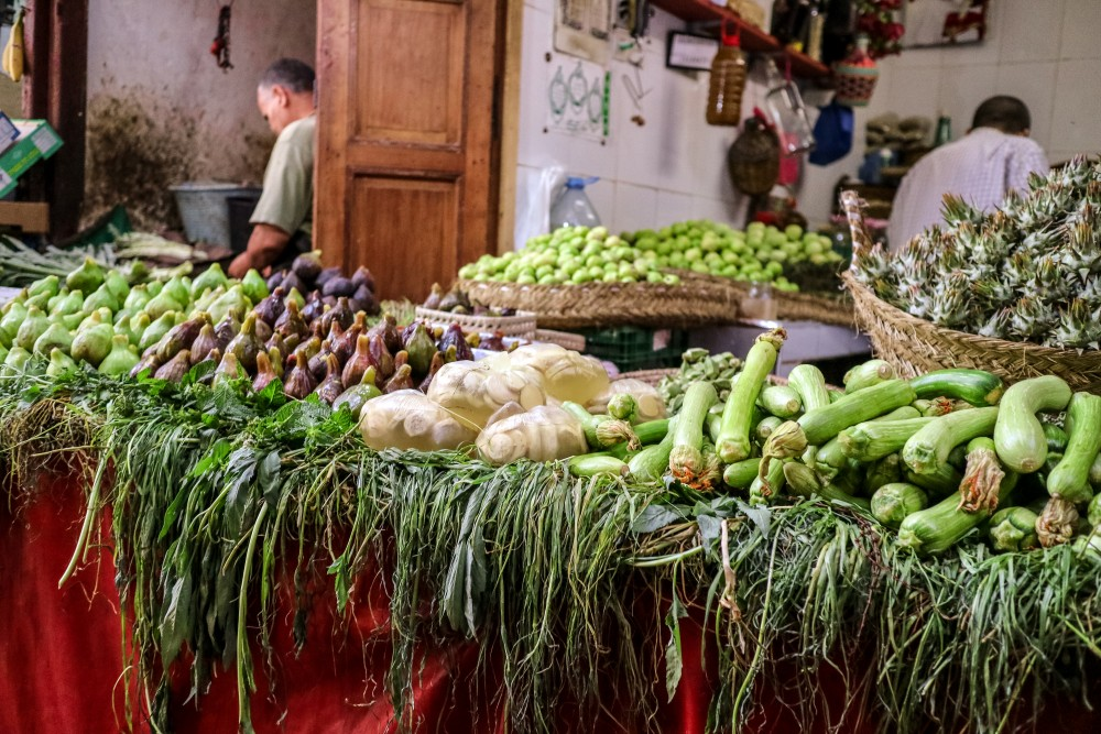 Fruit and vegetable stall in Fes el Bali medina | Places to visit in Fez
