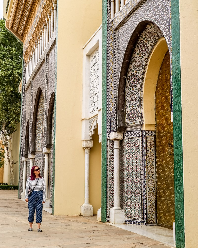 Royal Palace entrance in Fez, Morocco | Places to visit in Fez, Morocco