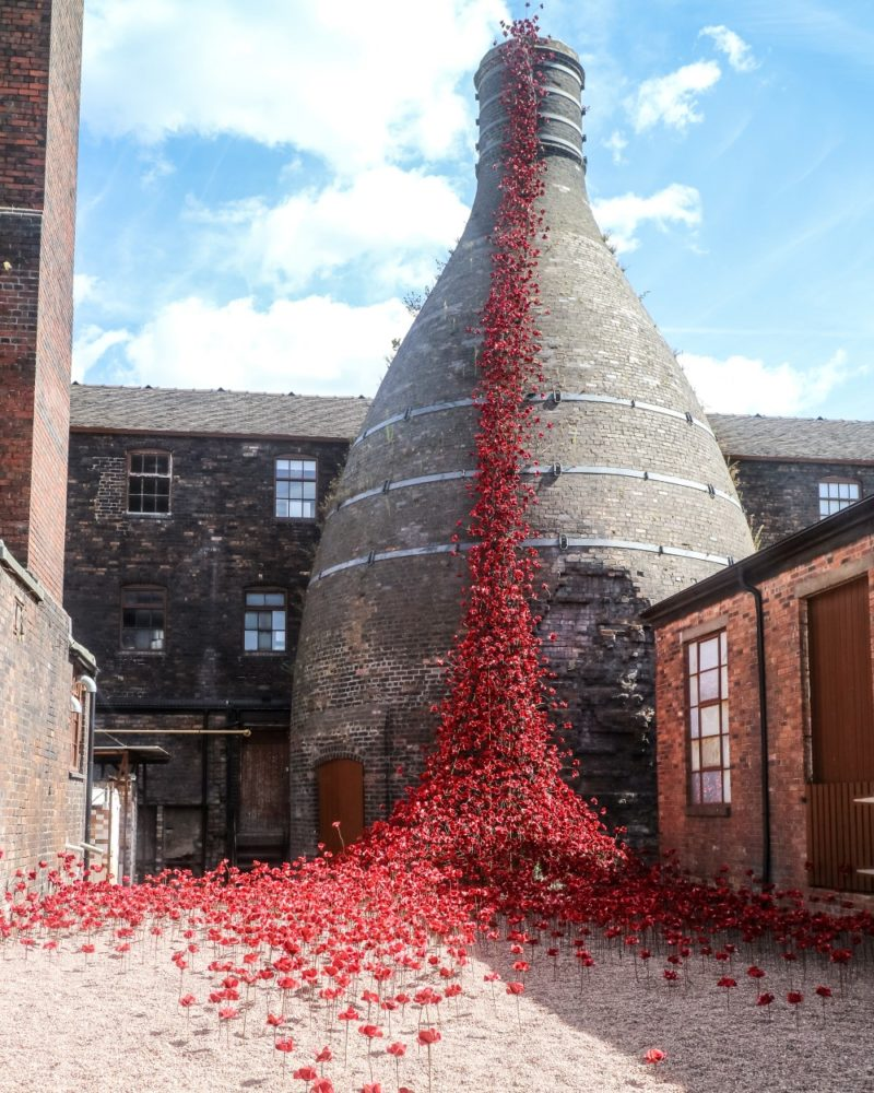 Weeping Window Poppies at Middleport Pottery Museum and Studios, Stoke-on-Trent