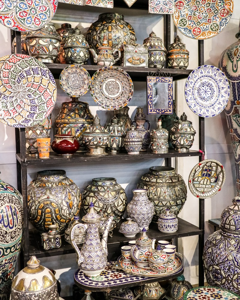 Mosaic crafts in Mosaique Et Poterie De Fes | Places to visit in Fez