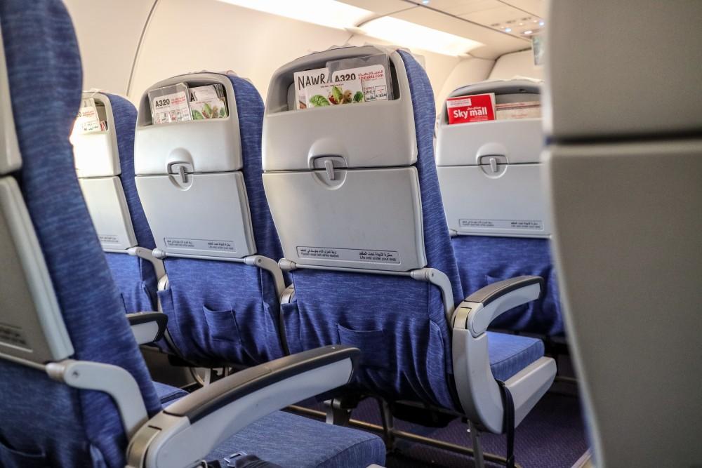 Interior of AirArabia plane