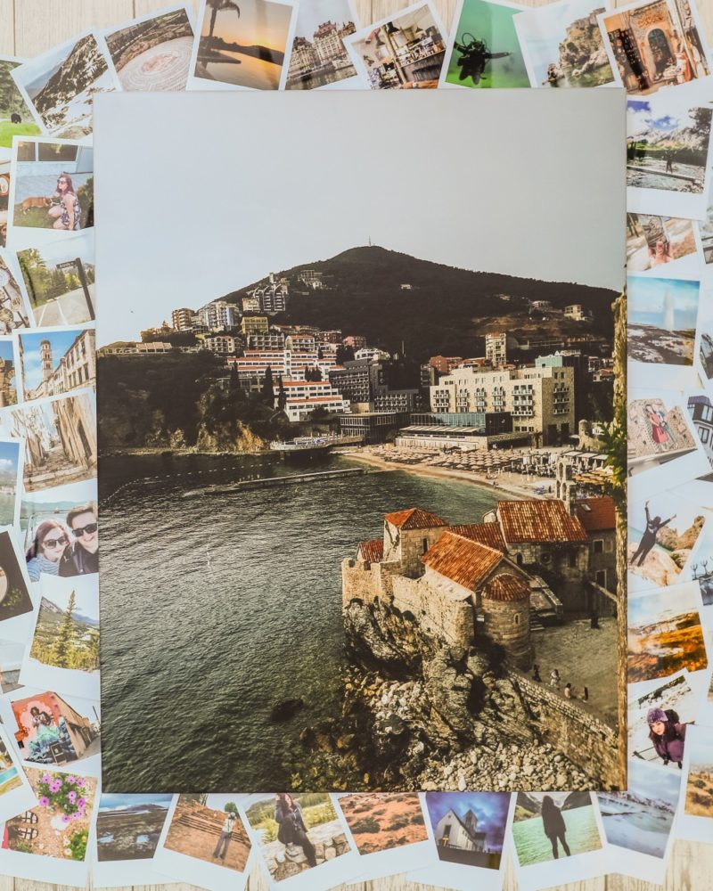 Printed photo canvas of Budva coastline from Cheerz
