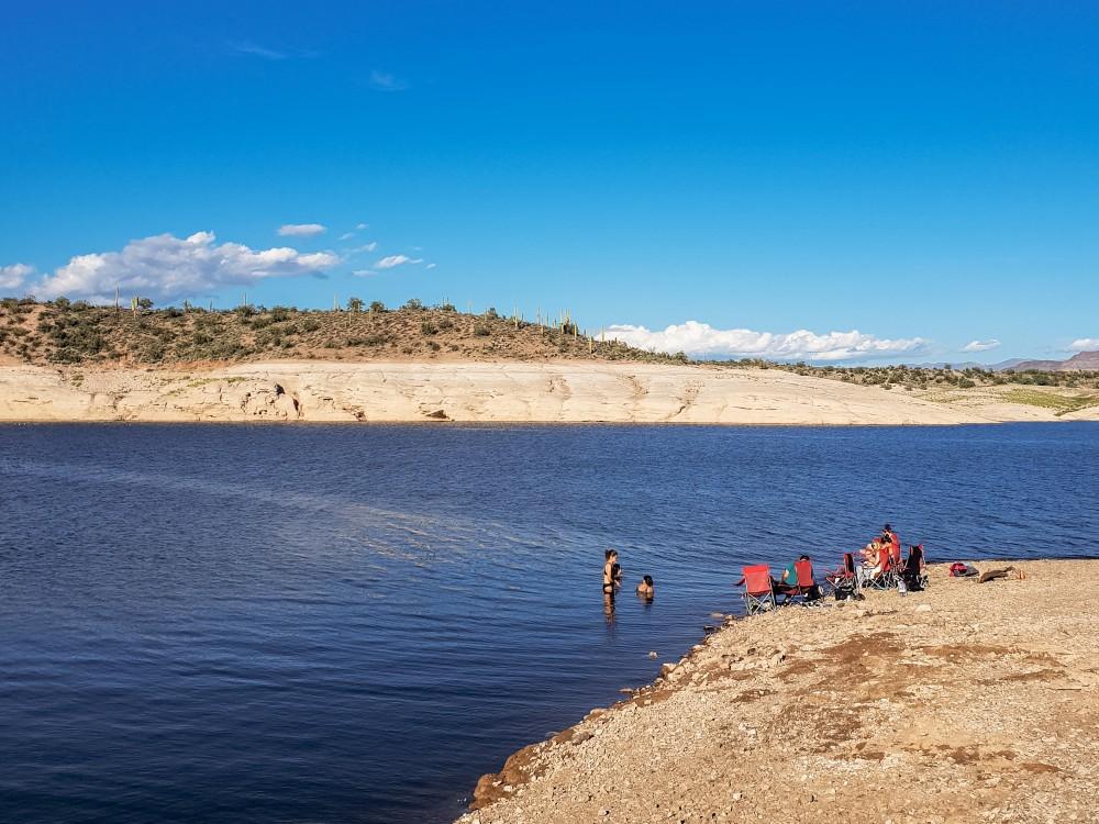 People at Lake Pleasant, Arizona