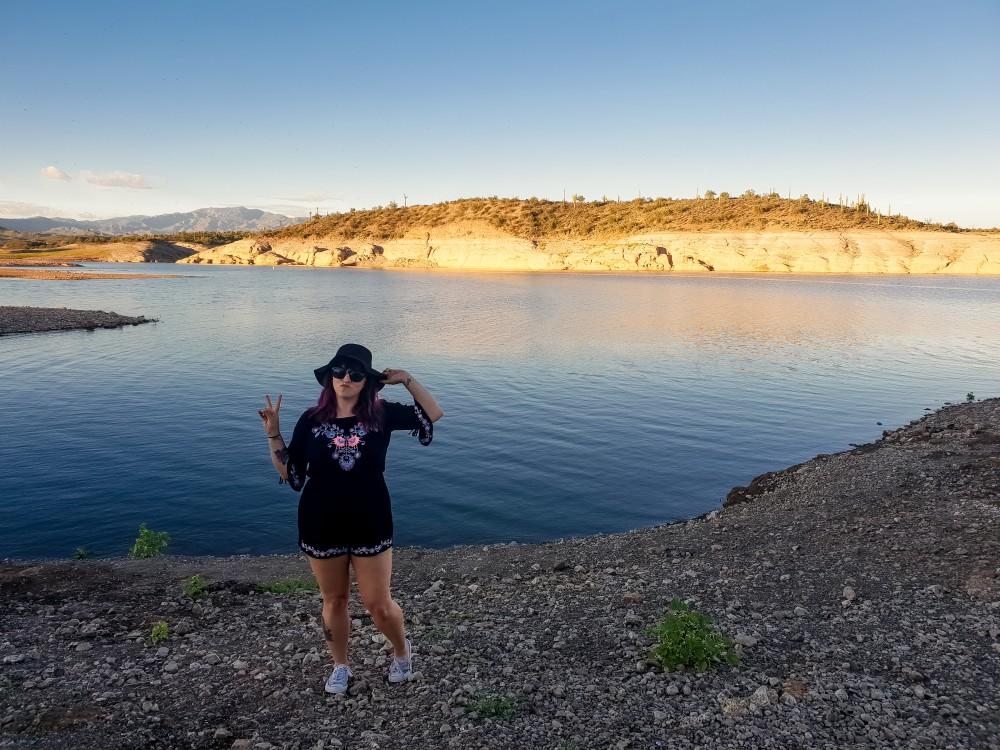 Girl at Lake Pleasant, Arizona
