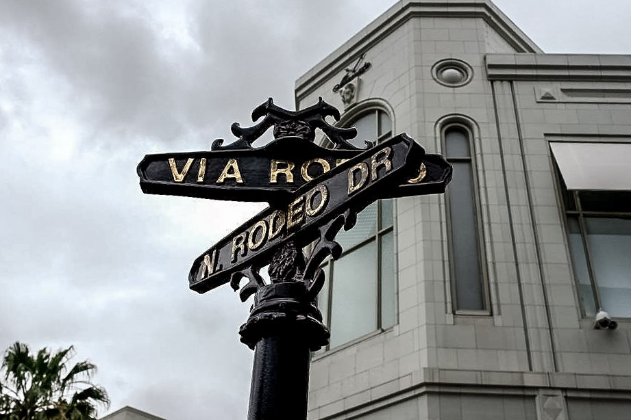Rodeo Drive sign in Beverly Hills, Los Angeles