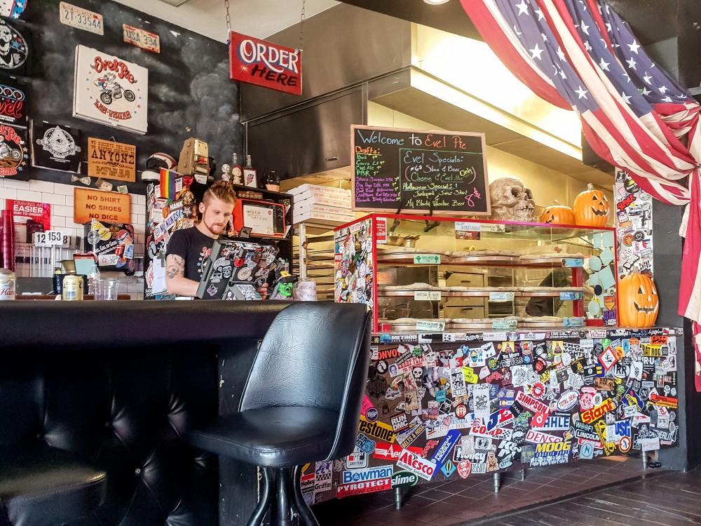 Counter at Evel Pie, Las Vegas
