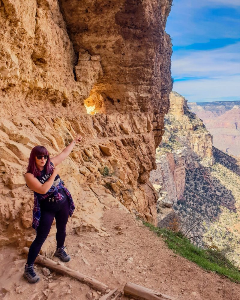Girl hiking at the Grand Canyon