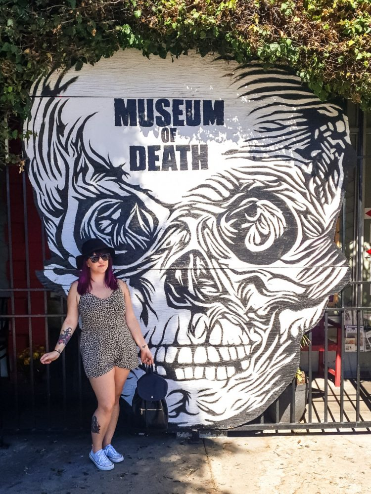 Exterior wall of Museum of Death, Los Angeles