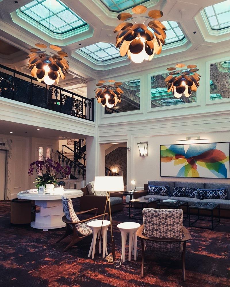 Lobby lounge at Galleria Park Hotel, San Francisco