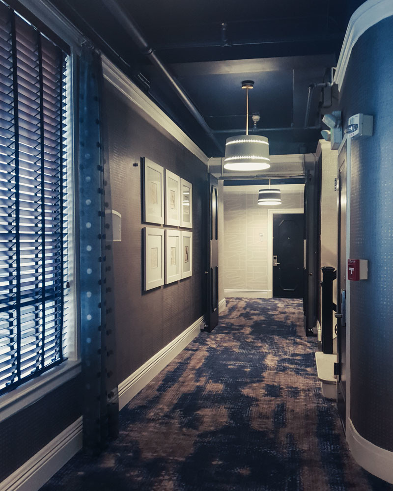 Hallway at Galleria Park Hotel, San Francisco
