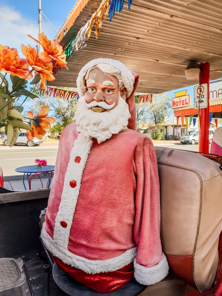 Santa Claus mannequin in Seligman, Arizona