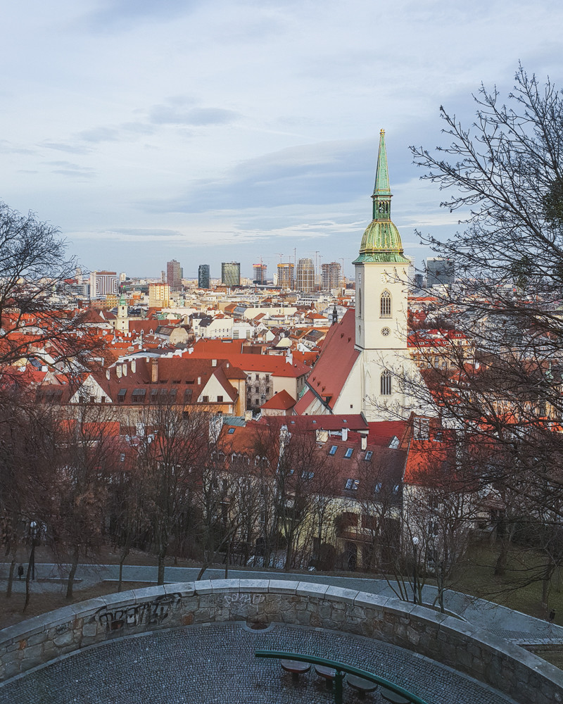View of Bratislava Old Town from Bratislava Castle