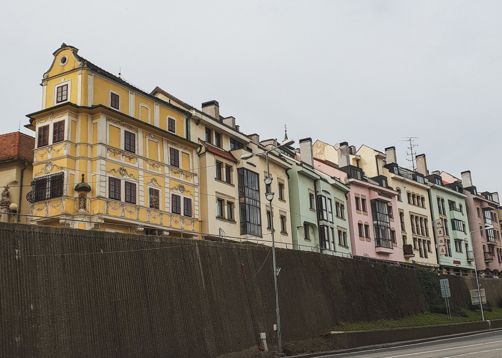 Colourful houses in Bratislava's Old Town