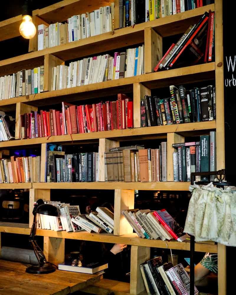 Bookshelves at Urban House, Bratislava