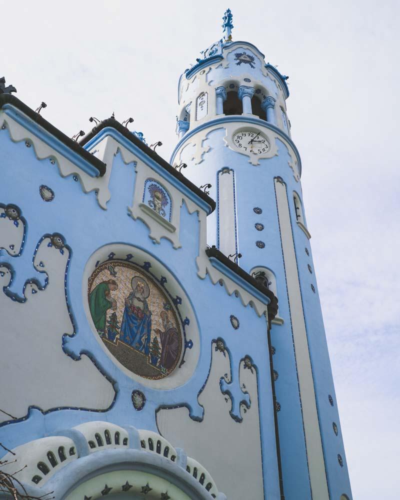 Blue church exterior