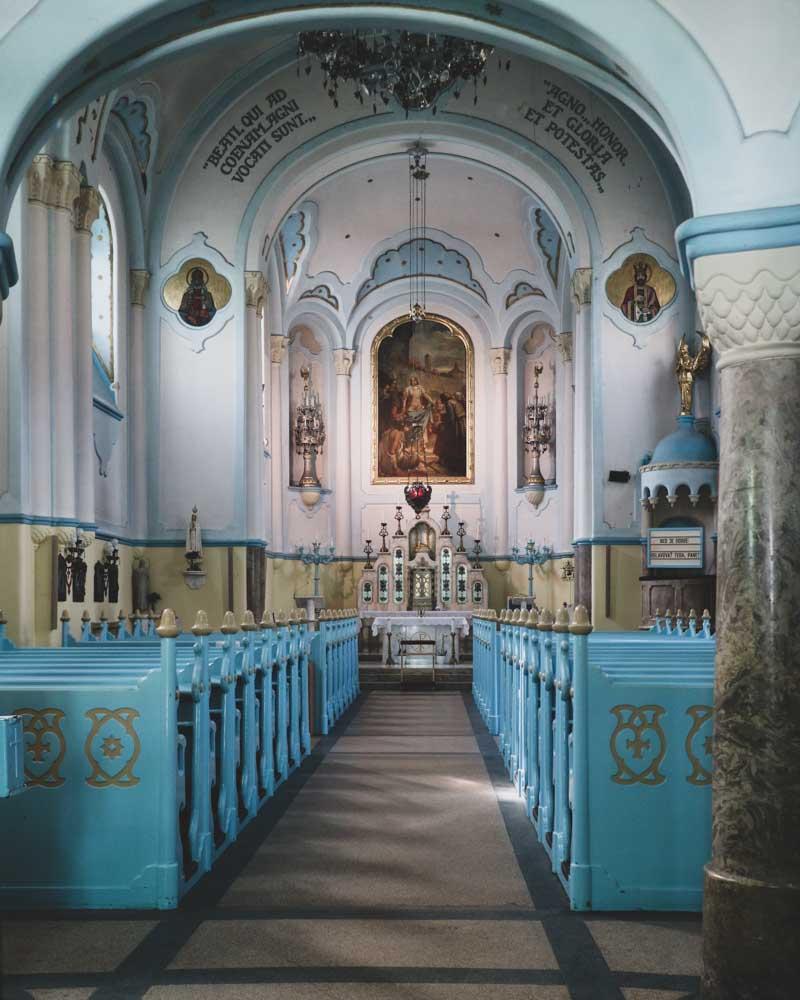 Interior of Blue Church