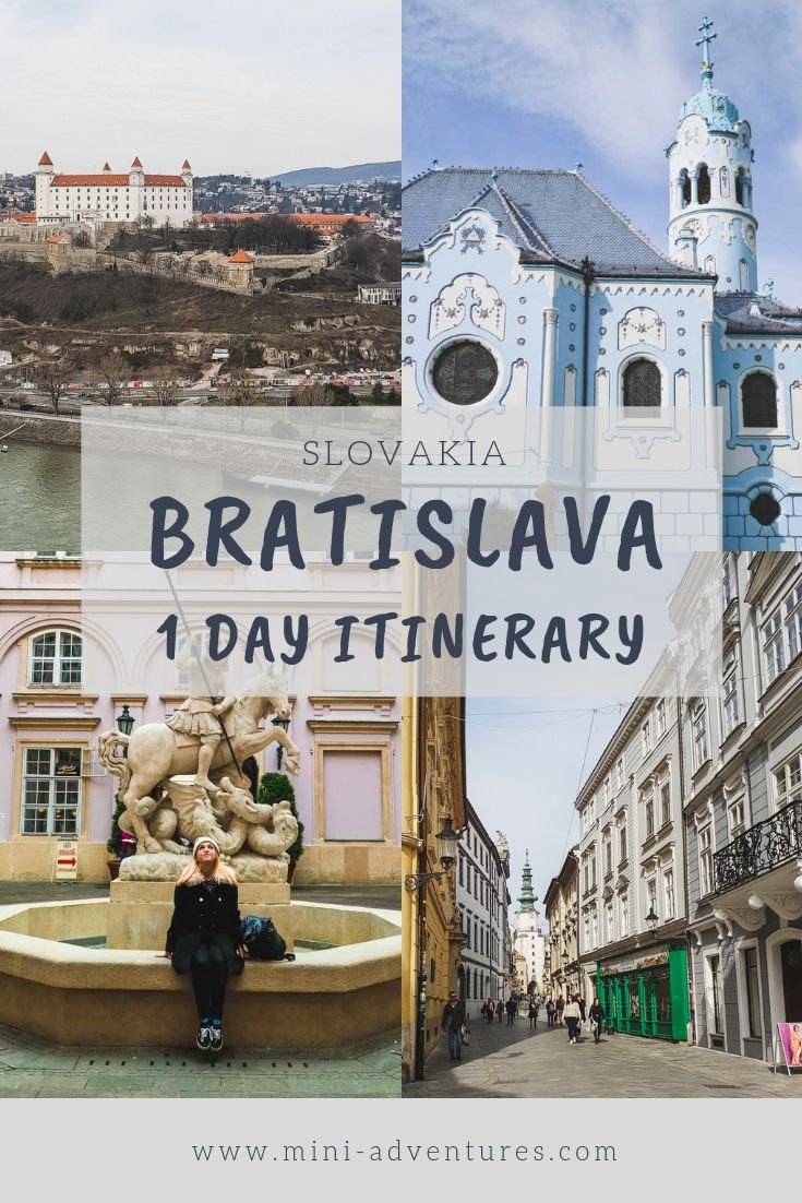 How to spend one day in Bratislava, Slovakia: an itinerary that covers the best sights, places to eat in Bratislava and the essential attractions.
