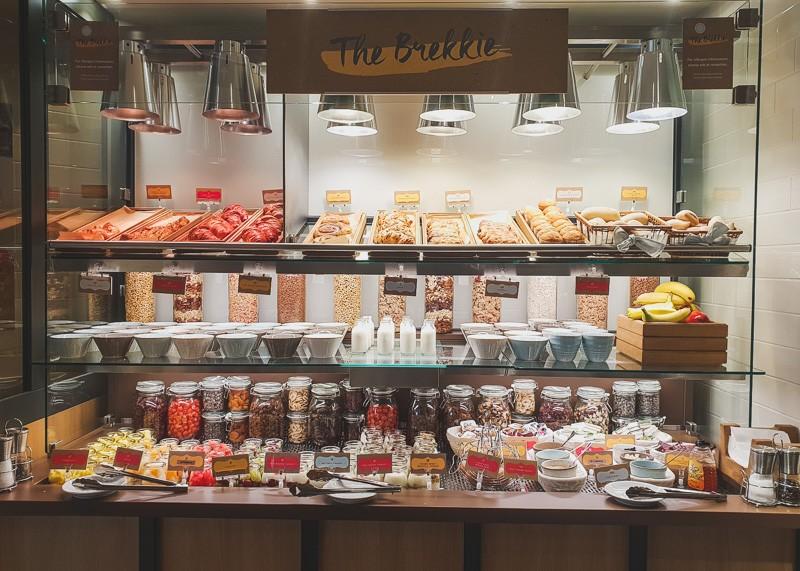 Continental buffet breakfast bar
