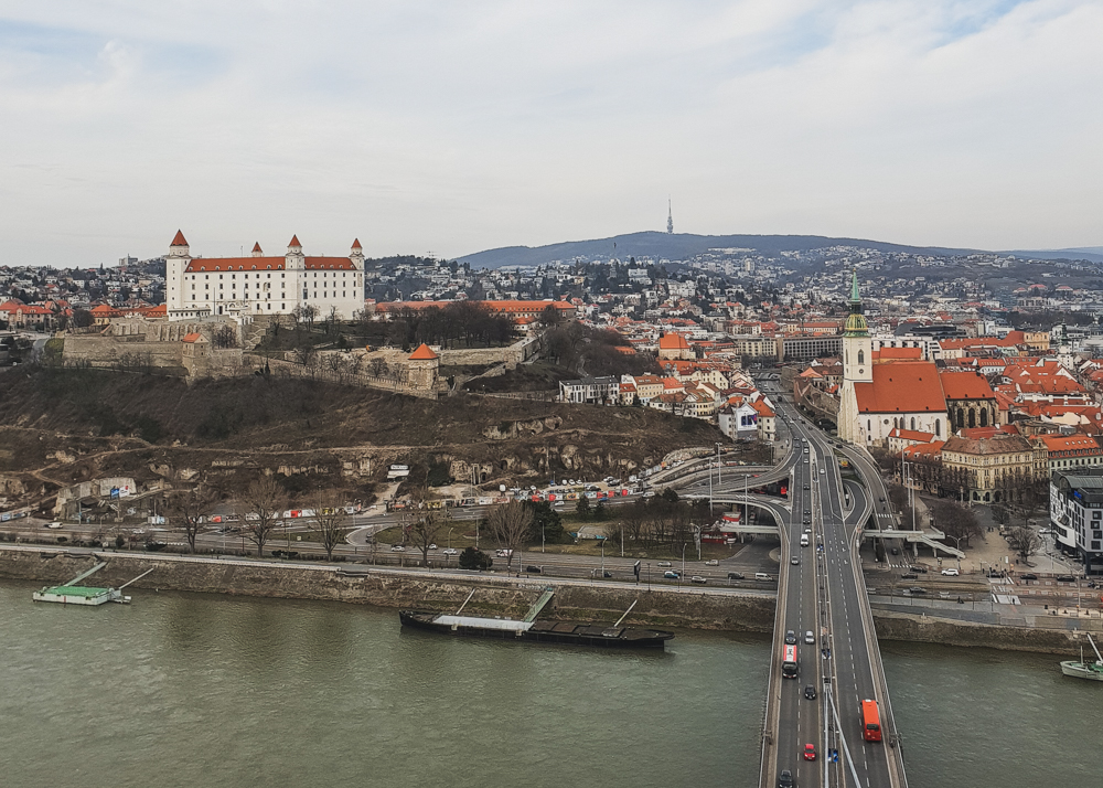 View of Bratislava Old Town from above