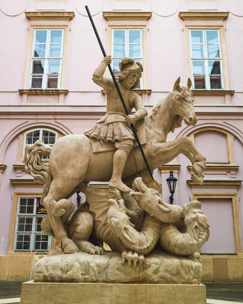 Statue in Bratislava's Primatial Palace